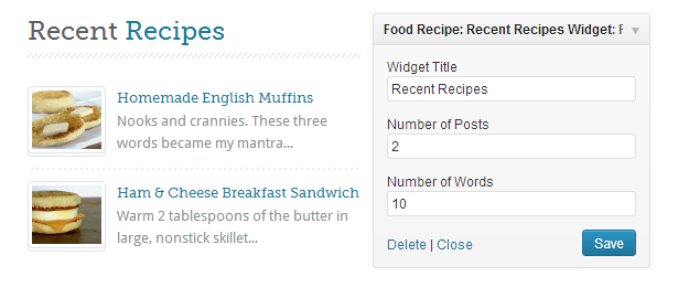 Food Recipes - Template WordPress per siti di Ricette