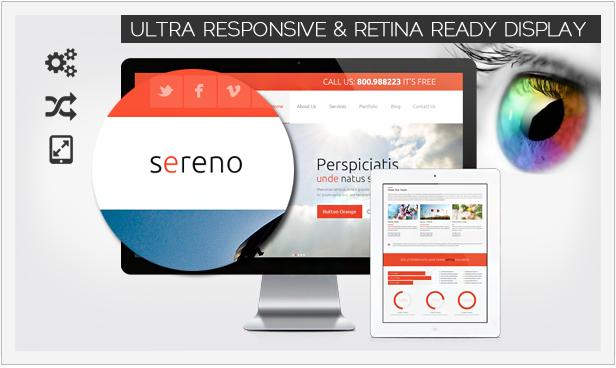 Sereno - Template UltraResponsive e Retina pronto
