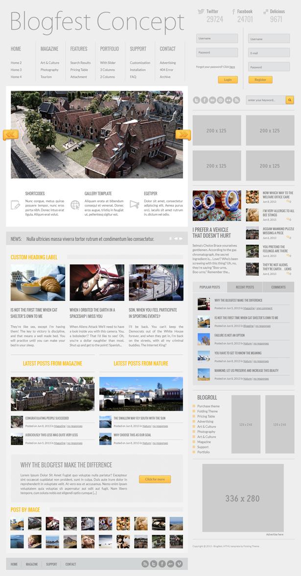 Blogfest - Template Magazine, News e Blog
