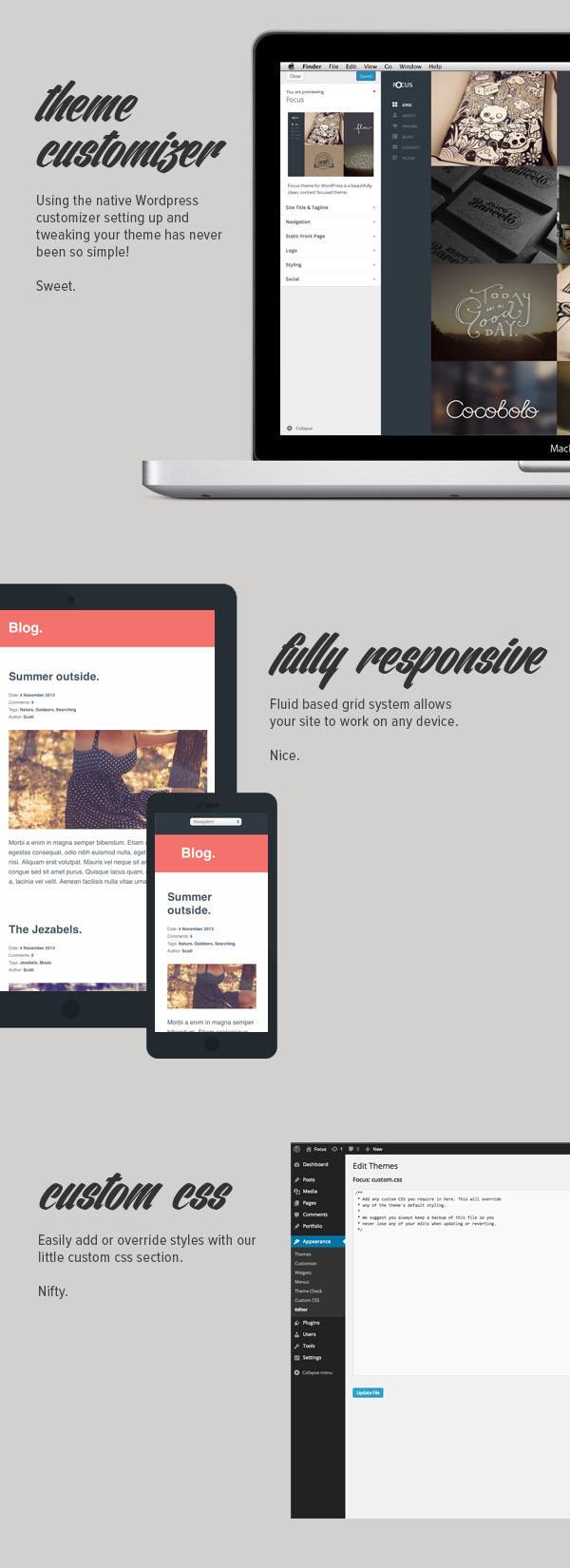 Focus - Template Responsive Creative
