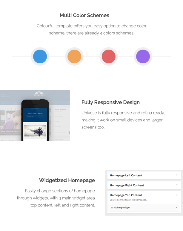 Universe - Template WordPress Responsive